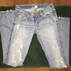 Silver Frances distressed jeans